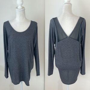 Lucy Gray Long Sleeve Oversized Tee Size Med {BS}